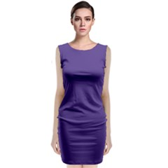 Dark Grape Purple Classic Sleeveless Midi Dress