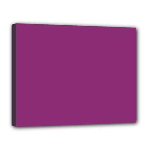 Grape Purple Canvas 14  X 11