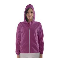 Rose Grey Hooded Wind Breaker (women)