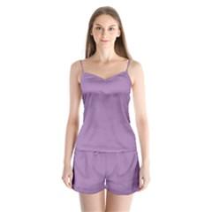 Grey Lily Satin Pajamas Set