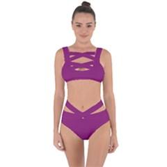Grape Juice Bandaged Up Bikini Set