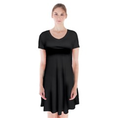 Quoth The Raven Short Sleeve V Neck Flare Dress
