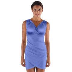 Lake Blue Wrap Front Bodycon Dress