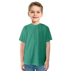 Teal Ocean Kids  Sport Mesh Tee
