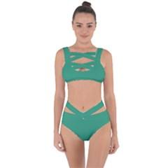 Teal Ocean Bandaged Up Bikini Set