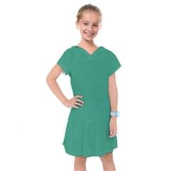 Teal Ocean Kids  Drop Waist Dress