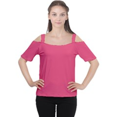 Rosey Day Cutout Shoulder Tee
