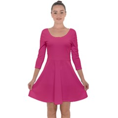 Rosey Day Quarter Sleeve Skater Dress