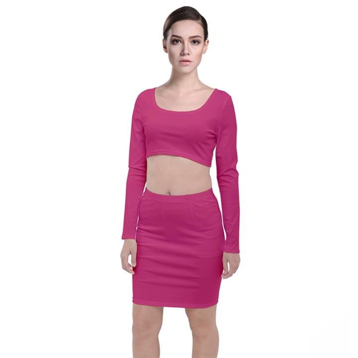 Rosey Day Long Sleeve Crop Top & Bodycon Skirt Set