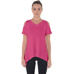 Rosey Day Cut Out Side Drop Tee