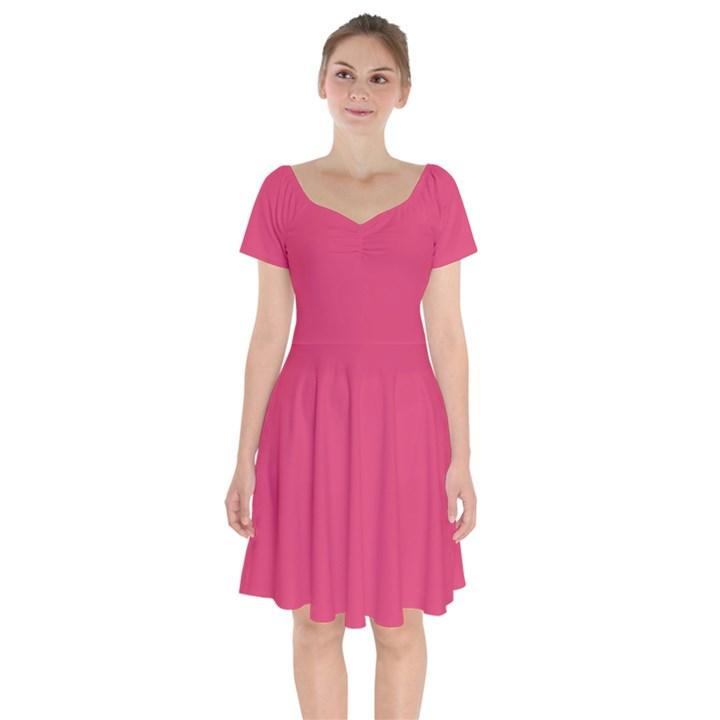 Rosey Day Short Sleeve Bardot Dress