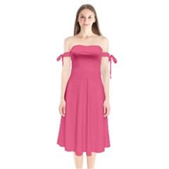Rosey Day Shoulder Tie Bardot Midi Dress