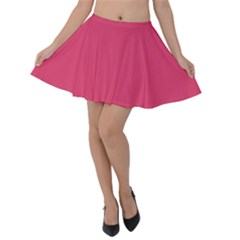 Rosey Day Velvet Skater Skirt