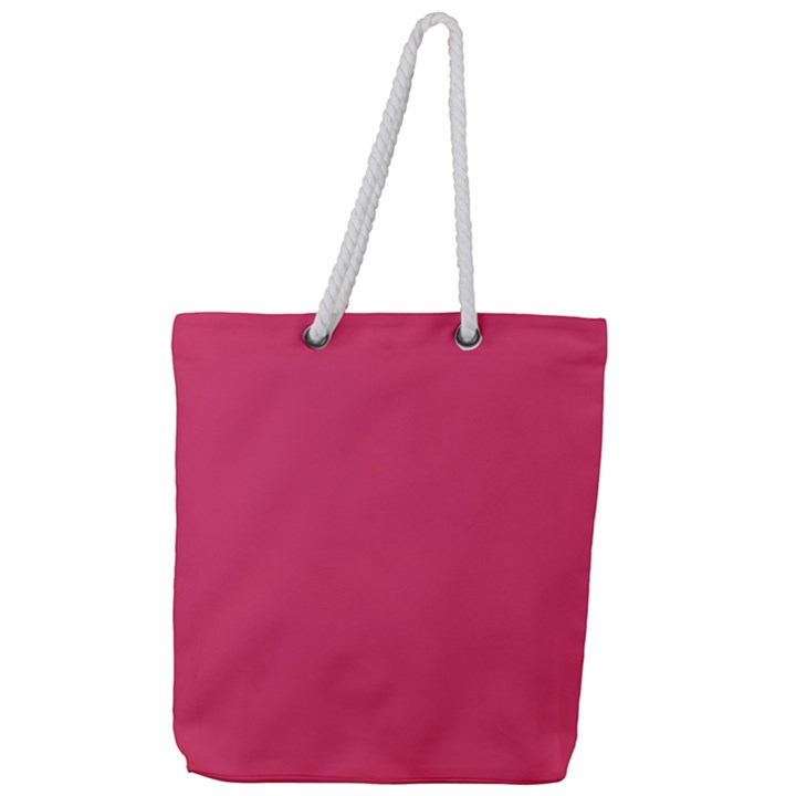 Rosey Day Full Print Rope Handle Tote (Large)