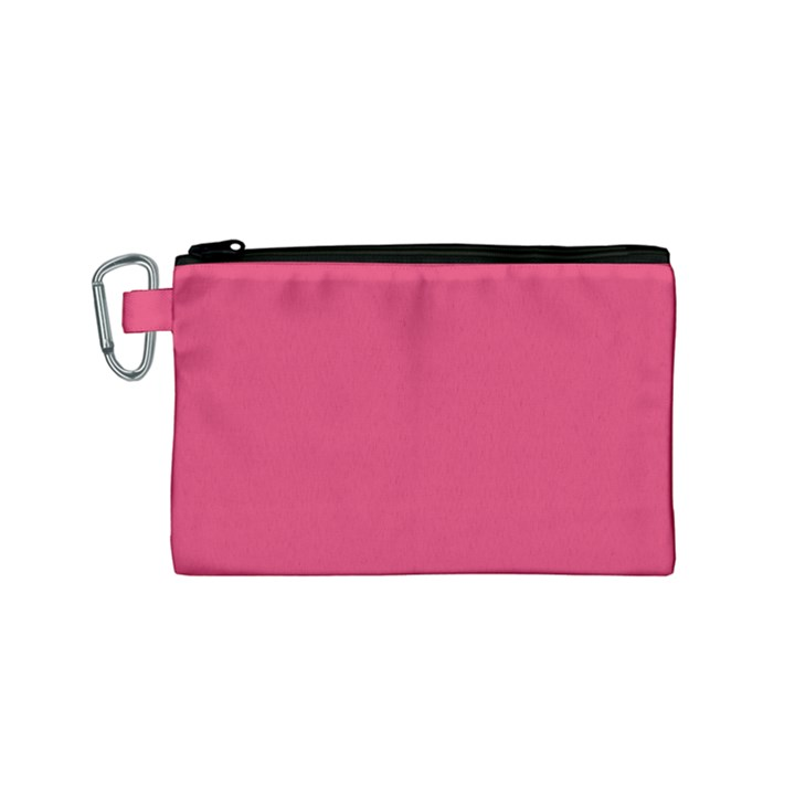 Rosey Day Canvas Cosmetic Bag (Small)