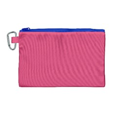 Rosey Day Canvas Cosmetic Bag (large)