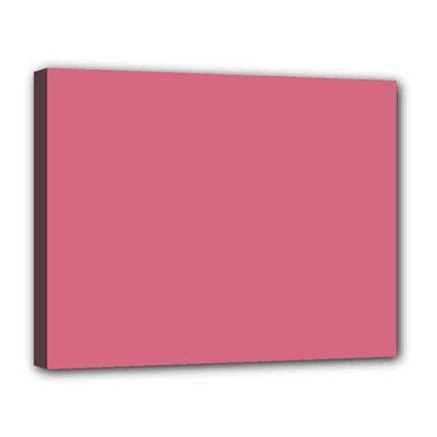 Rosey Canvas 14  X 11