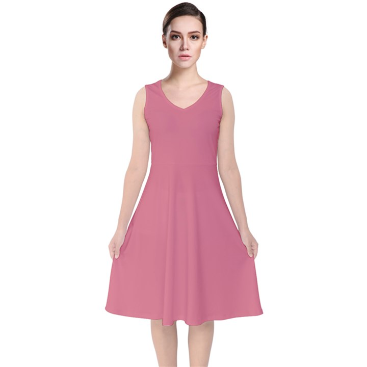 Rosey V-Neck Midi Sleeveless Dress