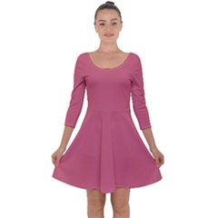 Rosey Quarter Sleeve Skater Dress