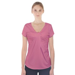 Rosey Short Sleeve Front Detail Top