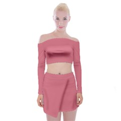 Rosey Off Shoulder Top With Mini Skirt Set