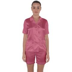 Rosey Satin Short Sleeve Pyjamas Set
