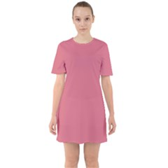 Rosey Sixties Short Sleeve Mini Dress
