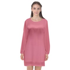 Rosey Long Sleeve Chiffon Shift Dress