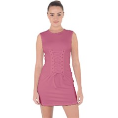 Rosey Lace Up Front Bodycon Dress