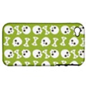 Skull Bone Mask Face White Green Apple iPhone 4/4S Hardshell Case (PC+Silicone) View1