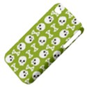 Skull Bone Mask Face White Green Apple iPhone 4/4S Hardshell Case (PC+Silicone) View4