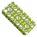 Skull Bone Mask Face White Green Apple iPhone 4/4S Hardshell Case (PC+Silicone) View5