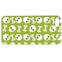 Skull Bone Mask Face White Green Apple iPhone 5 Hardshell Case with Stand View1