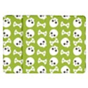 Skull Bone Mask Face White Green Samsung Galaxy Tab 8.9  P7300 Flip Case View1