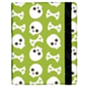Skull Bone Mask Face White Green Samsung Galaxy Tab 8.9  P7300 Flip Case View2