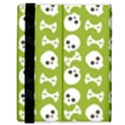 Skull Bone Mask Face White Green Samsung Galaxy Tab 8.9  P7300 Flip Case View3