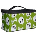 Skull Bone Mask Face White Green Cosmetic Storage Case View2