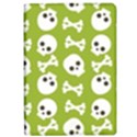 Skull Bone Mask Face White Green iPad Air 2 Flip View1