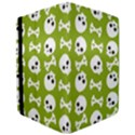Skull Bone Mask Face White Green iPad Air 2 Flip View3