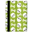 Skull Bone Mask Face White Green iPad Air 2 Flip View4