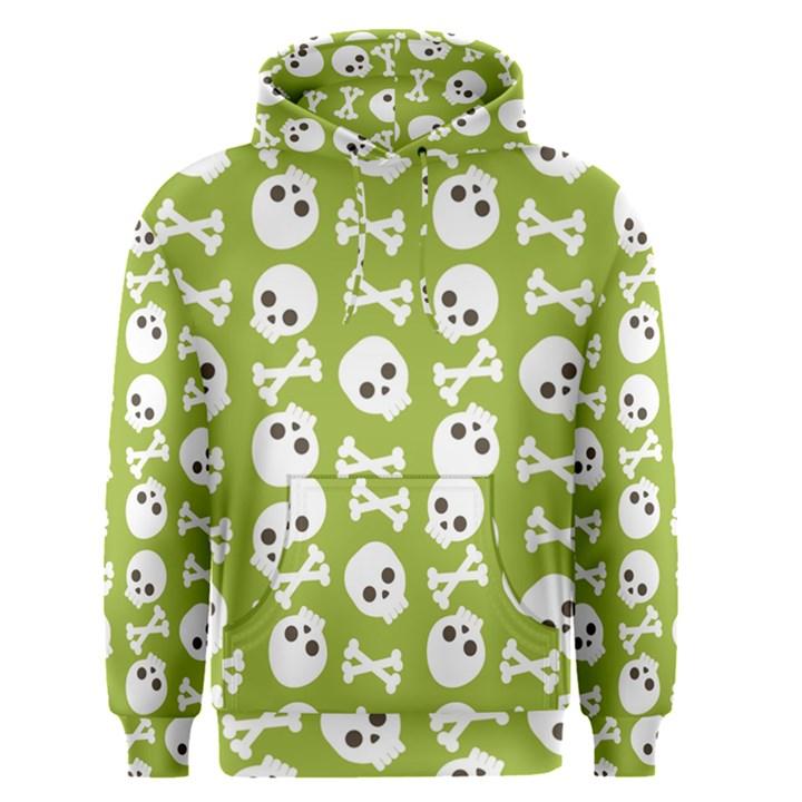Skull Bone Mask Face White Green Men s Pullover Hoodie