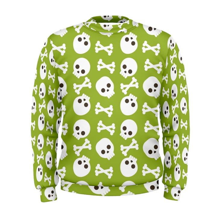 Skull Bone Mask Face White Green Men s Sweatshirt