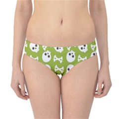 Skull Bone Mask Face White Green Hipster Bikini Bottoms