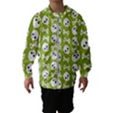 Skull Bone Mask Face White Green Hooded Wind Breaker (Kids) View1