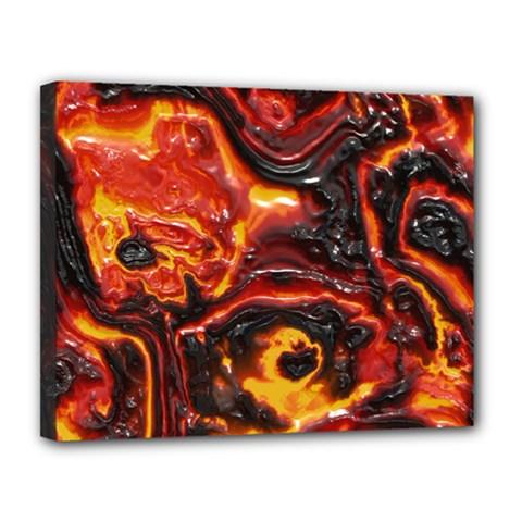 Lava Active Volcano Nature Canvas 14  X 11