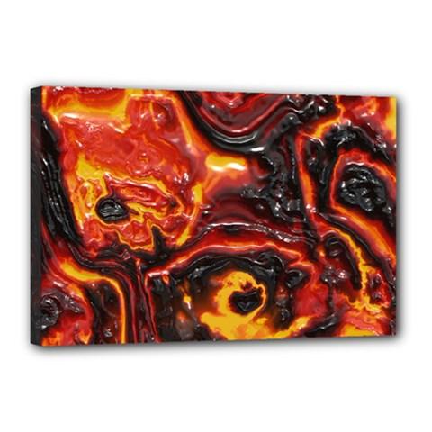 Lava Active Volcano Nature Canvas 18  X 12