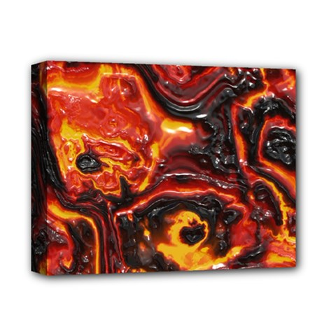 Lava Active Volcano Nature Deluxe Canvas 14  X 11