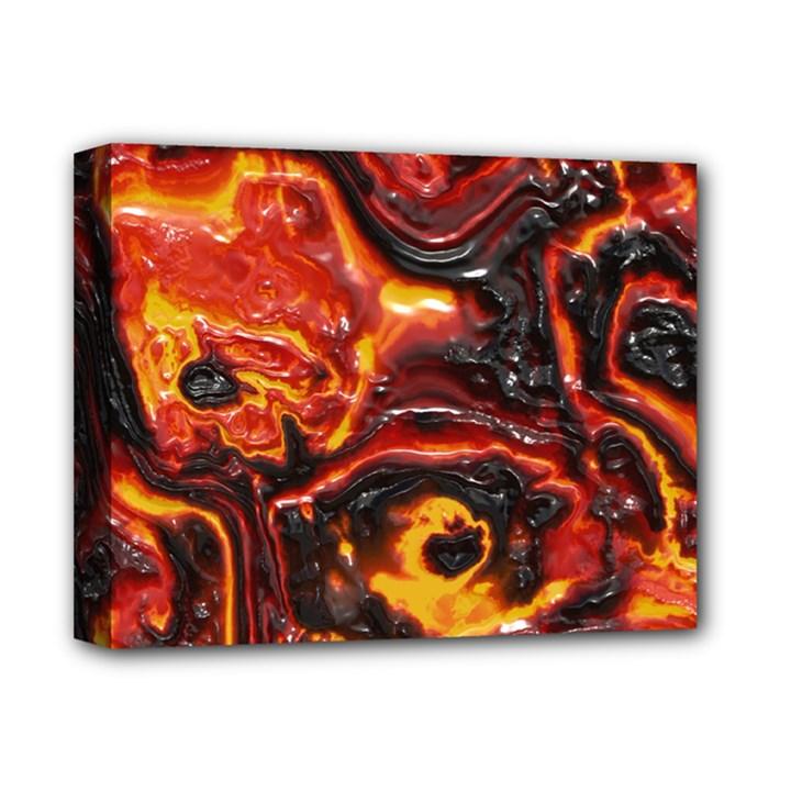 Lava Active Volcano Nature Deluxe Canvas 14  x 11