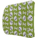 Skull Bone Mask Face White Green Back Support Cushion View3