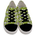 Skull Bone Mask Face White Green Men s Low Top Canvas Sneakers View1